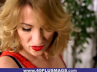 Mature Blonde Ass-fucked and Facialized
