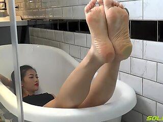 Asain puckered singure - syuan (picioare degete de la picioare colanți crush pov) total