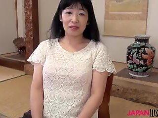 Japoneză Bunicuță Yuki Yoneyama Călărire Pulă Mare
