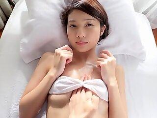 sensual massage with white bikini