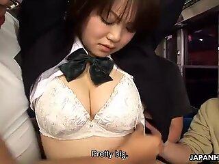 School girl Yayoi Yoshino gets rammed in bus