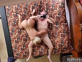 Old daddy fucking blonde slut