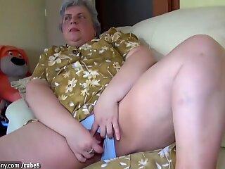 Oldnanny Drăguțe Fata și Grasă Bunicuță Masturbare împreună