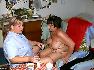 OldNanny Fat granny, hairy pussy and young girl