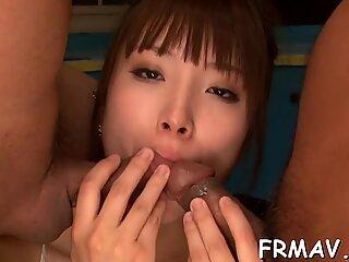 Crude Japanese cock wanking
