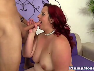 Cockriding bbw banged in her tight cunt