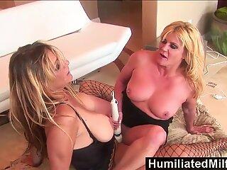 HumiliiatMilfs - Dominatoria Debi Diamant Fucks Ginger Lynn cu piciorul ei