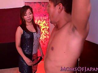 Japanese mature spreading legs