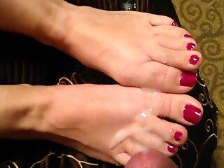 Încărcătură imensă pe Degete de la Picioare lui Soția